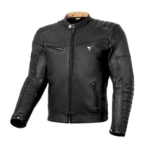 SHIMA Winchester, Herren Motorradjacke mit Protektoren Leder Stadt Classic Vintage Motorrad Jacke, Schwarz, Größe M
