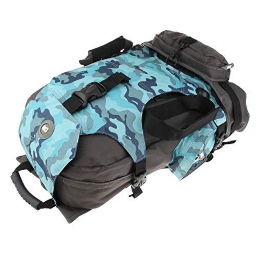 Baoblaze Outdoor Sportrucksack Polyester Wanderrucksack Rollschuhe Aufbewahrungstasche für Radfahren Bergsteigen - Blaue Camouflage