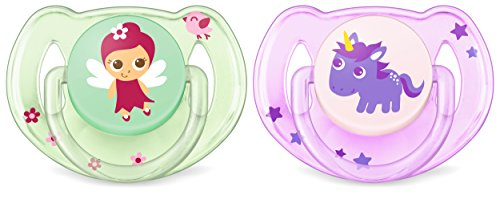Preisvergleich Produktbild Philips Avent Klassik Design Schnuller 6-18 Monate SCF169/48, Doppelpack, Mädchen, Mädchen/Pferd