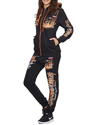 Violento - Survêtement - Femme noir/orange