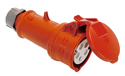 Preisvergleich Produktbild as - Schwabe 61425 MENNEKES CEE-Kupplung 400V / 16A,  rot,  mit Klappdeckel,  400 V