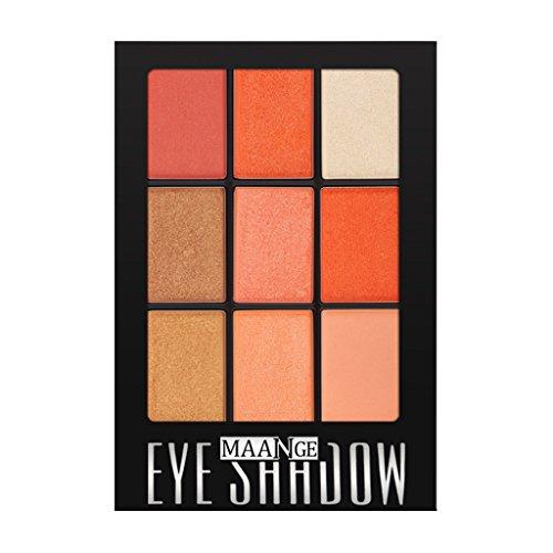 B Baosity 9 Farben Matte Lidschatten Augenschatten Makeup Eyeshadow Palette - Grapefruit Kürbis