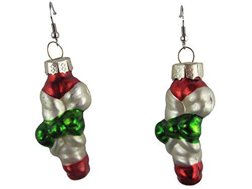 Weihnachtschmuck Ohrringe Weihnachten Hänger Christbaum Weihnachtsfigur Zuckerstange Candy Süßigkeit Heilig Abend *K126*