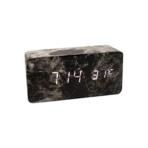 HCFKJ COOL, Moderne Digital LED 3D Tisch Schreibtisch Nacht Wanduhr Alarm Uhr Digital Clock Display (SBK2)