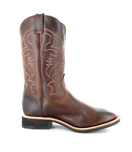 Boulet westernreitstiefel 4081 marron bottes d'équitation western pour homme dans différents (océan) Marron - Brown (Wide 1E)