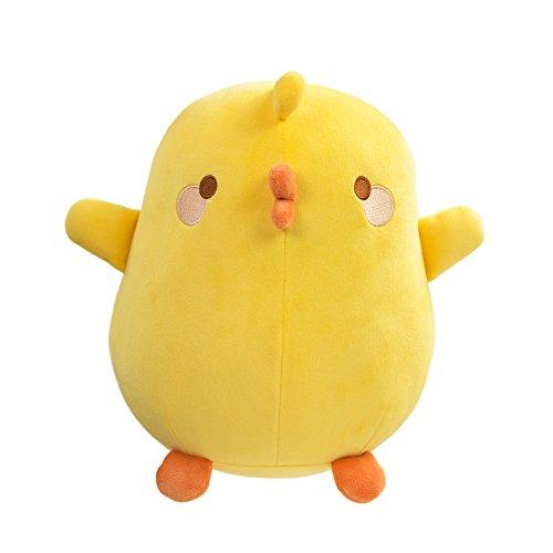 【 Baby Geschenk 】Molang - Super Softes Piu Piu 【 niedlich und flauschig 】 grosses Plüschtier zum Kuscheln und Schlafen - Kuscheltier aus Plüsch für Kinder Babys - gelb - 25 cm