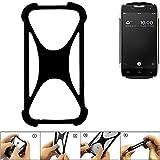 K-S-Trade Handyhülle für Doogee T5 Schutz Hülle Silikon Bumper Cover Case Silikoncase TPU Softcase Schutzhülle Smartphone Stoßschutz, schwarz (1x)