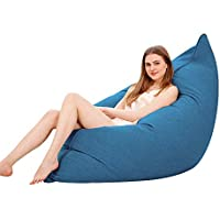 Yjsofa Bean Bag Leisure Bed - Lazy Sofa Seat Indoor/Outdoor Square (Color : Azul, Tamaño : 160 * 130cm)