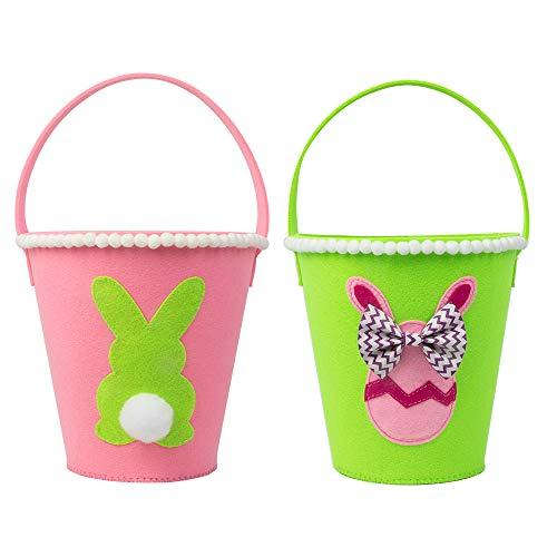 Art Beauty Ostern Korb Hase Taschen Ei Jagd Baskets für Kinder Kaninchen Eimer für Party Favor Festival Liefert (Ei Ostern Korb)