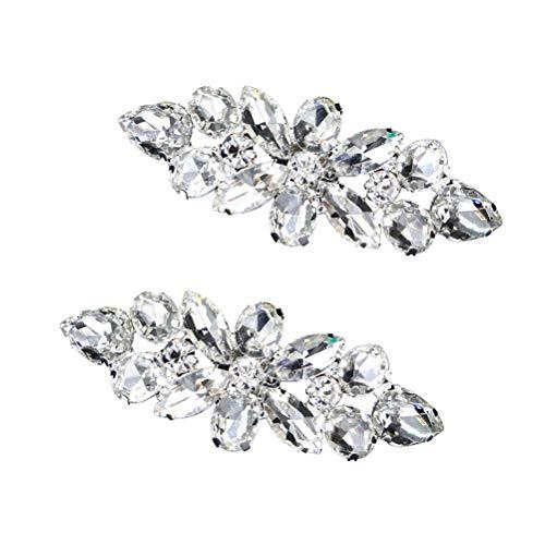 BESTOYARD 1 Paar Kristall Schuhschnallen Clip auf Schuhschmuck Schuh Pins DIY Schuh Zubehör für Hochzeit Braut Frauen