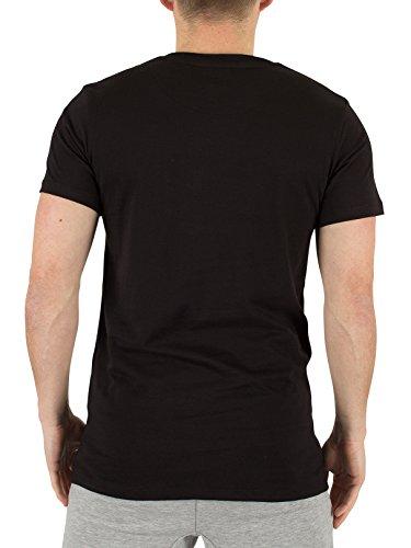 Hype Herren Spray Script-Grafik-T-Shirt, Schwarz Schwarz