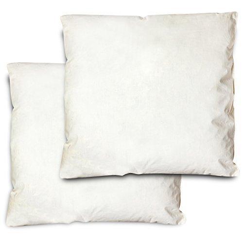 2 x Home&Fashion Federkissen 43x43 cm | 2-er Set | 90% Gänsefedern | 10% Daunenfüllung | 100% Baumwolle | Kissen 360g Füllung | Zum schlafen | Kopfkissen, Kissenfüllung, Füllkissen, Schlafkissen