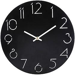 Wanduhr Vintage, Anna Shop 12 Zoll Wanduhr Lautlos Vintage Uhr Uhren Wall Clock Ohne Tickgeräusche Wohnzimmer