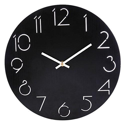 Likeluk orologio da muro silenzioso, 12 pollici(30cm) orologio da parete vintage orologio muro moderno decorazione per casa ufficio hotel ristorante
