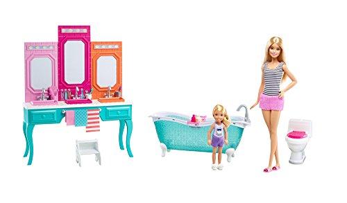 Chelsea-zubehör-set (Barbie and Chelsea Vanity Bathroom Set / Barbie und Chelsea Vanity Badezimmer Spielset)