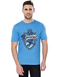 The Souled Store HARRY POTTER: Ravenclaw Sigil Movie Printed Premium Cotton T-shirt for Men Women and Girls