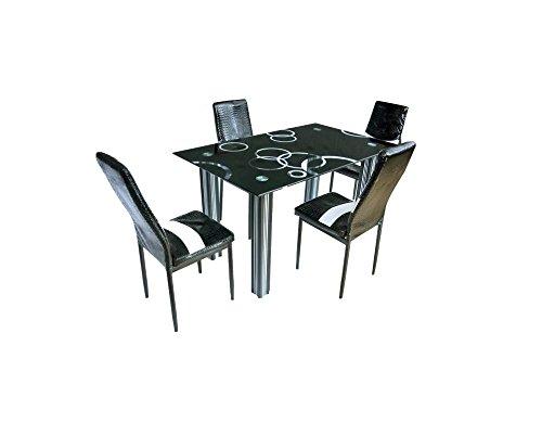 Dining set (1 + 4) in Black Color