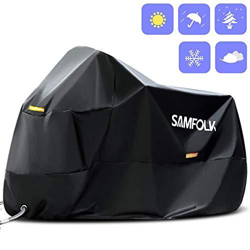 8a2d7ec057b Funda Moto Funda Protectora Moto, SAMFOLK 210D Cubre Motos Impermeable  Cubierta de la Moto a