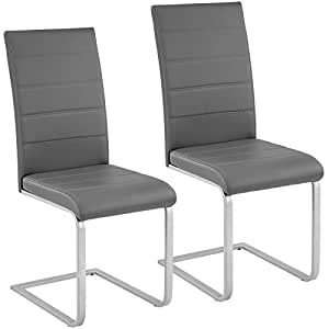TecTake Set Of 2 Dining Cantilever Chairs Dining Room