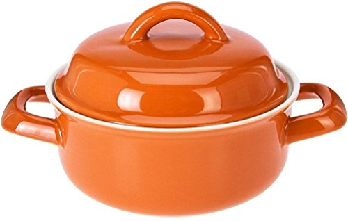 Mini Casserole Dishes with Lids Small Porcelain Mini Oven Dish With Lids (Orange)