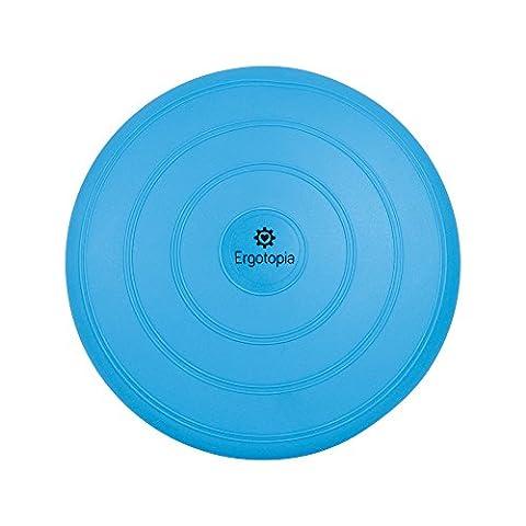 Ergotopia® Balance Kissen mit 100% Zufriedenheitsgarantie / Beugt Rückenschmerzen vor, löst Verspannungen / Ergonomisches Ballsitzkissen inklusive Luftpumpe (Blau, 33cm)