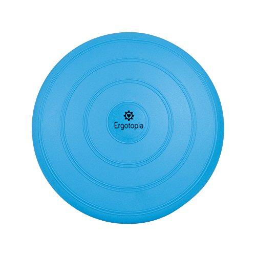 Ergotopia Balance Kissen mit 100{19e60e1fd4e5ed4d54fbe3ca1f6c4ccd7934e47dabad30823d2ccfb785fb32b1} Zufriedenheitsgarantie/Beugt Rückenschmerzen vor, löst Verspannungen/Ergonomisches Ballsitzkissen inklusive Luftpumpe (Blau, 33cm)