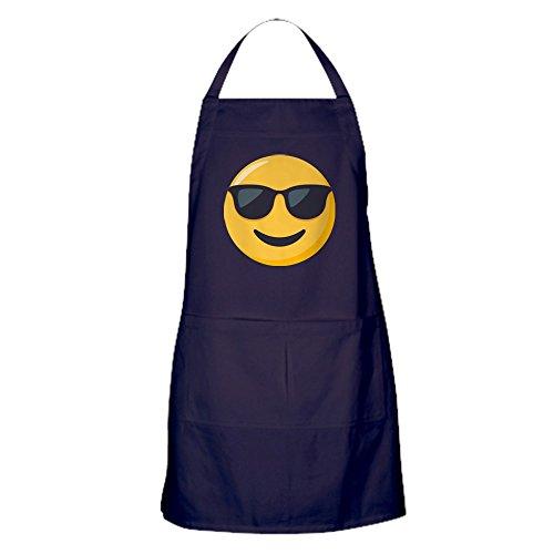 CafePress Sonnenbrille Emoji Küchenschürze mit Taschen, Grillschürze, Backschürze