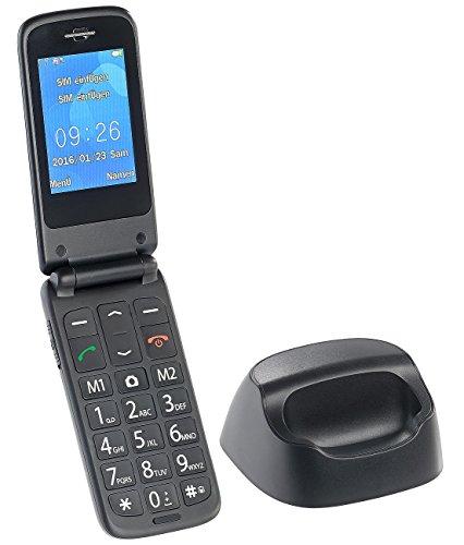 simvalley Mobile Senioren Klapphandy: Senioren- und Notruf-Klapp-Handy mit Garantruf Premium und Ladestation (Notruf Klapphandy)