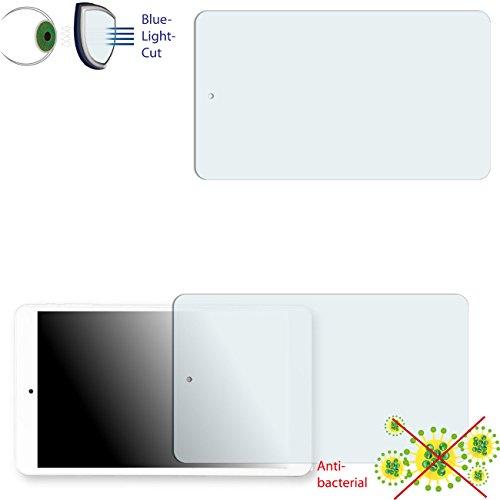 Preisvergleich Produktbild 2 x DISAGU ClearScreen Displayschutzfolie für ODYS TIGER TAB 8 anti-bakteriell, BlueLightCut Filter Schutzfolie