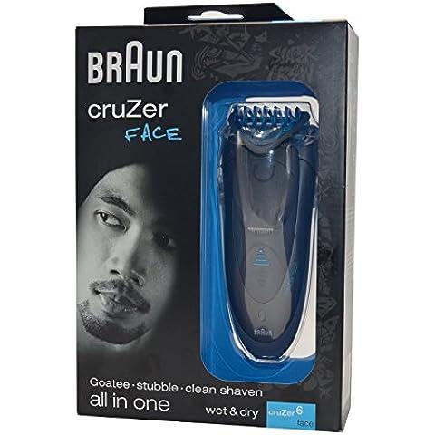 Braun CruZer6 face - Afeitadora (Vibración, 1 piezas, Negro, Gris, 1h, 5 min, 110 - 240 V)