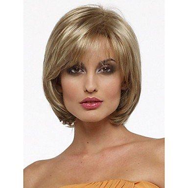 HJL-nouvelle chaleur perruque cosplay r¨¦sistant courte m¨¦lange auburn bob de la mode droite perruque de cheveux