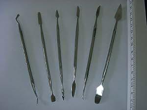 Restaurierwerkzeug / Modellierwerkzeug. 12 Werkzeugformen. Edelstahl. Geschliffene Arbeitsflächen