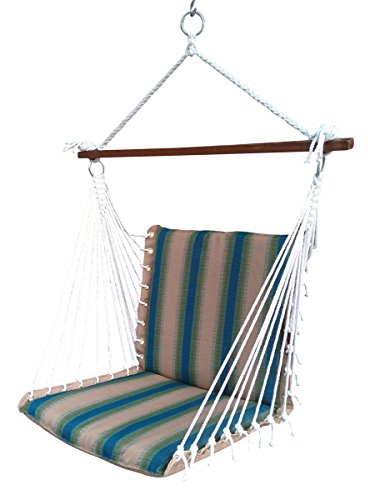 Hangit Polyester Premium Cushioned Home and Garden Hanging Swing Chair for Indoor / Outdoor (Forest Stripe)