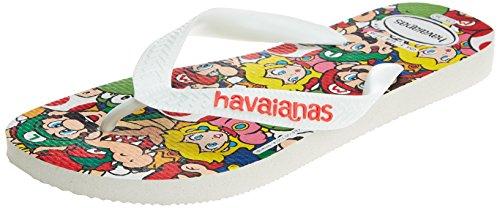Havaianas Mario Bros, Infradito Unisex-Adulto Bianco (White)