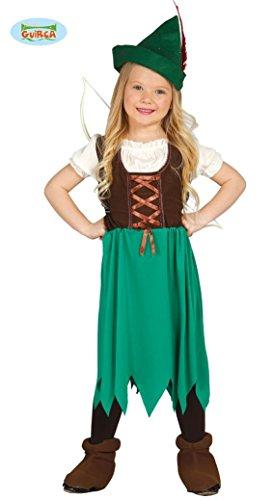 N MÄDCHEN - Größe 95-100 cm ( 3-4 Jahre ), Mittelalter Verfilmung Film Wald Räuber Dieb Bogenschütze (Mädchen Halloween Kostüme Robin)