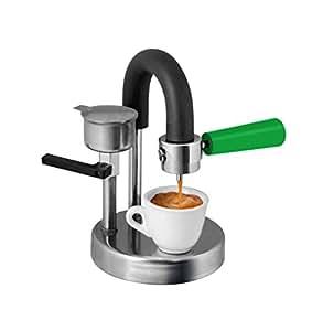 kaffeemaschine kamira farbversion gr n der cremige espresso auf den herd gestellt. Black Bedroom Furniture Sets. Home Design Ideas