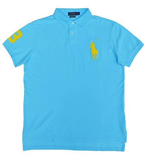 Polo-pony-shirt (Ralph Lauren - Herren Polo Shirt - Big Pony - Custom Fit - Türkis - Gr.M)