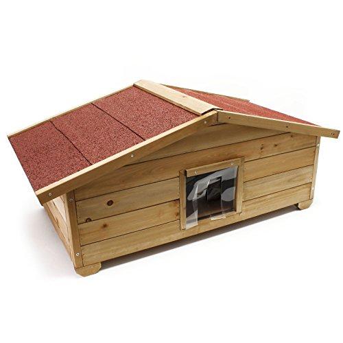 Caseta grande gatos casa hogar impermeable aislado