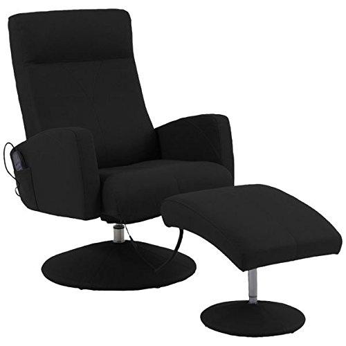 GMD Design Massagesessel mit Heizfunktion, SE 900, Schwarz, Ledersessel