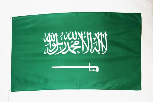 BANDERA de ARABIA SAUDITA 150x90cm - BANDERA SAUDÍ 90 x 150 cm - AZ FLAG