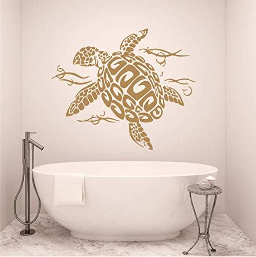 Fxq Wall Sticker Oceanturtle Wandtattoo Schildkröte Vinyl Aufkleber Turtle Sea Animal Ocean Nautischen Dekor42 * 57Cm -