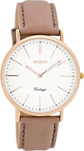 Oozoo Damenuhr Digital Quarz mit Lederarmband – C8140