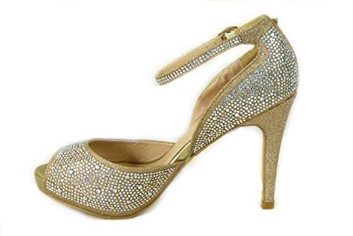 SKOS , Sandales pour femme Gold (8028-1)