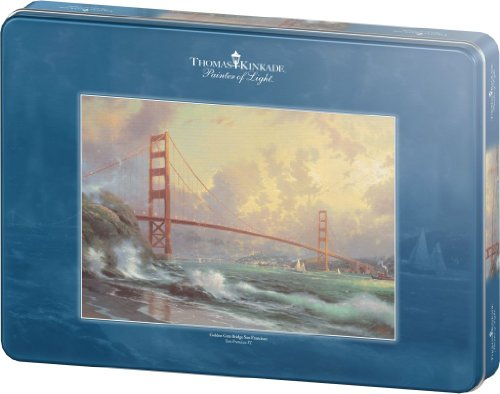 Schmidt Spiele 59802 - Thomas Kinkade, Golden Gate Bridge San Fancisco, 1000 Teile Puzzle, in Metalldose