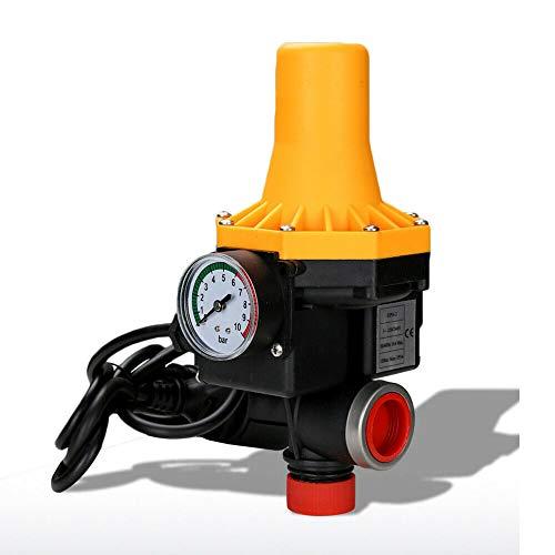 wolketon Druckschalter Elektronische Druckwächter Pumpensteuerung mit Kabel Gartenbewässerung mit Baranzeige, 10 bar automatisches EIN- und Ausschalten