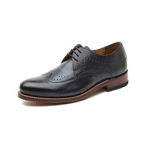 Gordon & Bros Levet 5090-C Herrenschuhe Herren Businessschuhe, Schnürhalbschuhe, Anzugsschuhe, Derby Schuhe, Goodyear Blau (alameda blue ), EU 45