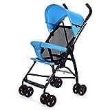 AZW Leichte Kinderwagen Kinderwagen Buggy Kinderwagen Kinderwagen Geeignet von 7 bis 36 Monate,Blue
