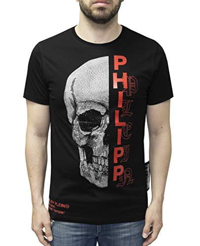 Philipp Plein T-Shirt Platinum Cut - Gothic Plein - with Skull Print (XXL) (Jacken Mit Strass-steinen)