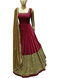 Gowns For Women Party Wear Lehenga Choli For Women Party Wear Salwar Suits For Women Stitched Dress Materials... - B077P8C7MC
