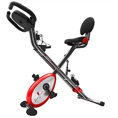 Sportstech Cyclette 4in1 X150 per Allenamento Domestico con App per Smartphone, Elastici, Porta Tablet e sensori per pulsazioni. Ergometro di Ottima qualità! Bici Fitness Pieghevole per casa, X-Bike